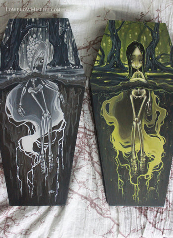 coffin girl painting