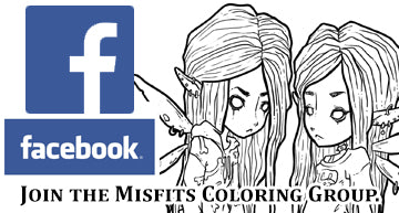 Stag's Coloring book group. Share you creepy cute art from misfits coloring books.