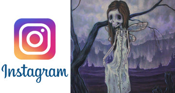 Lowbrow and fantasy gothic art of white stag on instagram