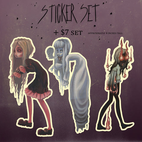 Creepers and haunts sticker set