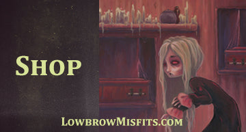 Lowbrow misfits original fantasy and gothic lowbrow art by white stag
