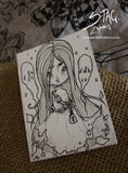 Ghost- Original ink drawing ACEO