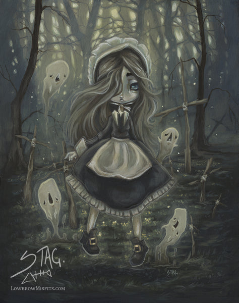 Among the Sticks- Gothic Ghost Print
