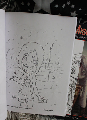 Buy Misfits Alien Coloring Book No 8 At Lowbrow Misfits White