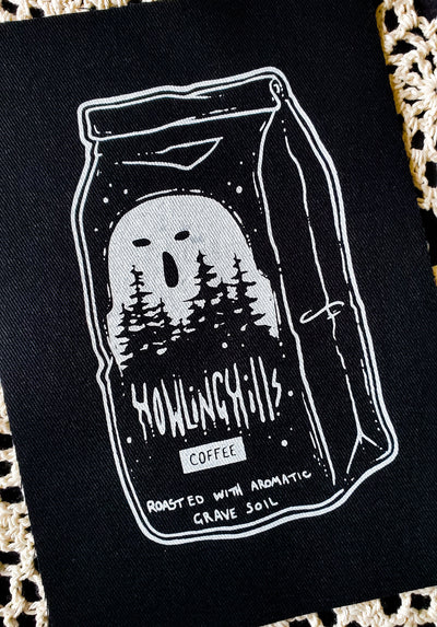 Howling Hills Fabric patch -Lowbrow misfits White Stag Art