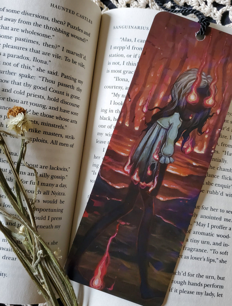 Ember Witch Holographic Bookmark -Lowbrow misfits White Stag Art