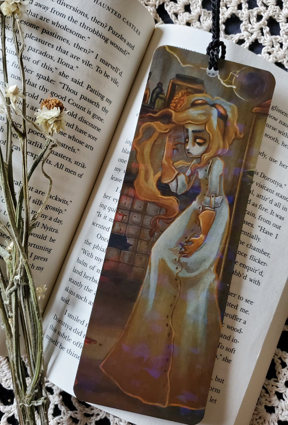 The Reanimator Holographic Bookmark -Lowbrow misfits White Stag Art