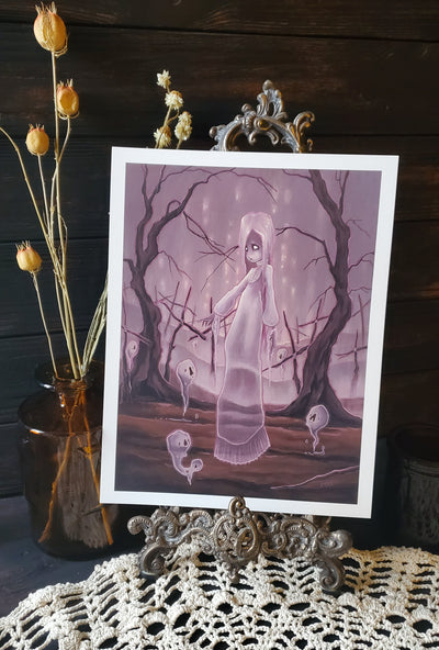 Spirits lowbrow ghost art print -Lowbrow misfits White Stag Art