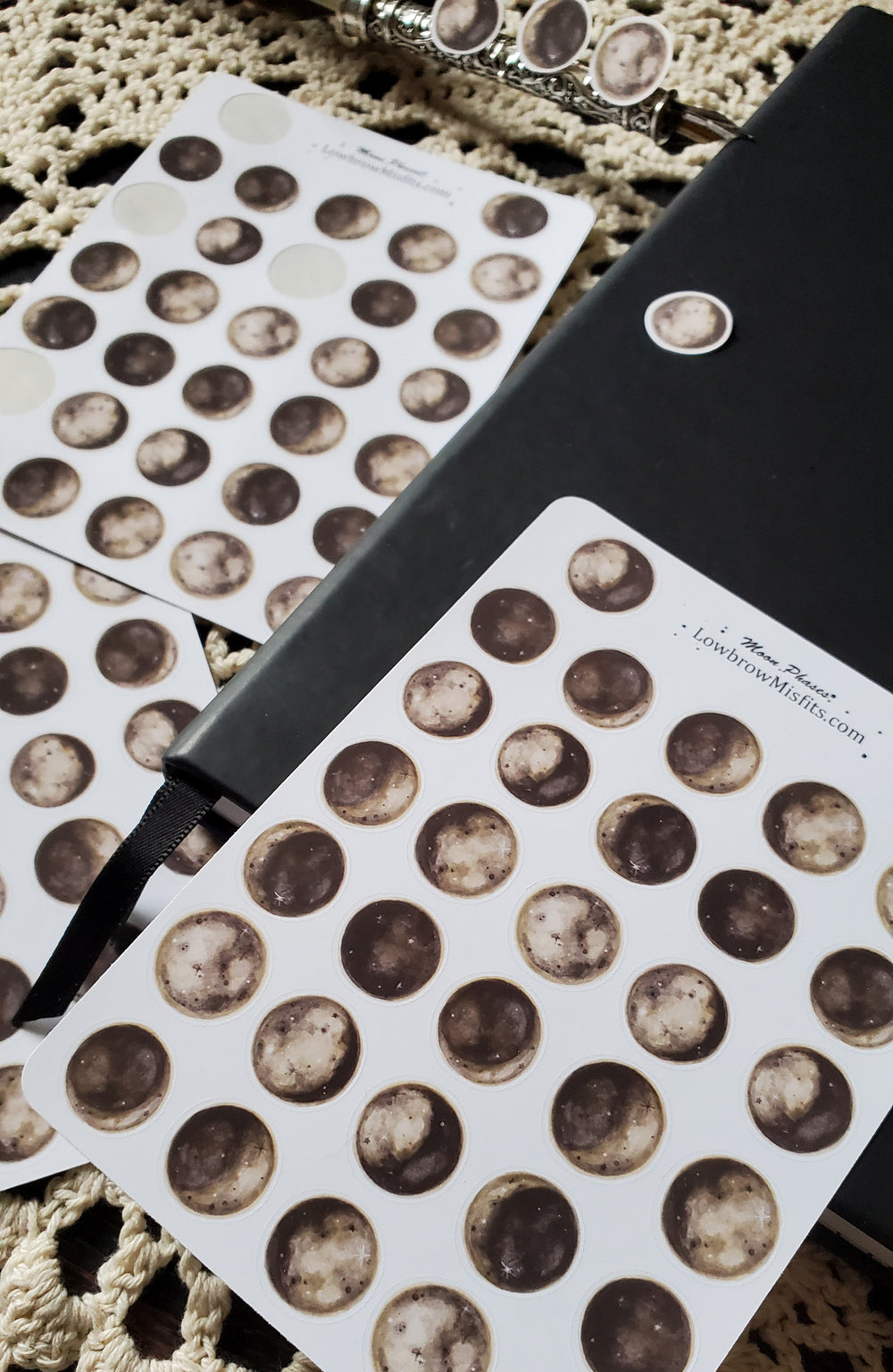 Moon phase STICKER sheet
