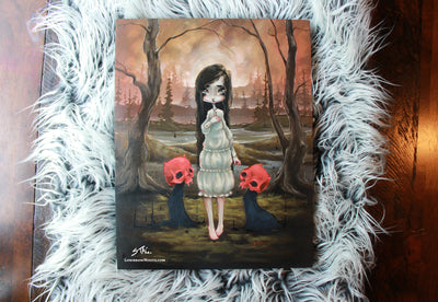 The Red Devils- Original lowbrow gothic painting -Lowbrow misfits White Stag Art