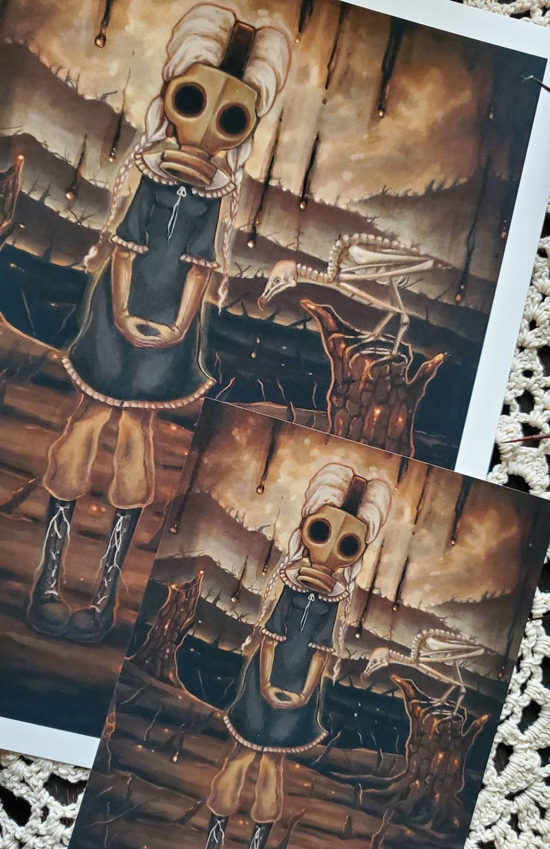 The carrion - gas mask art Print
