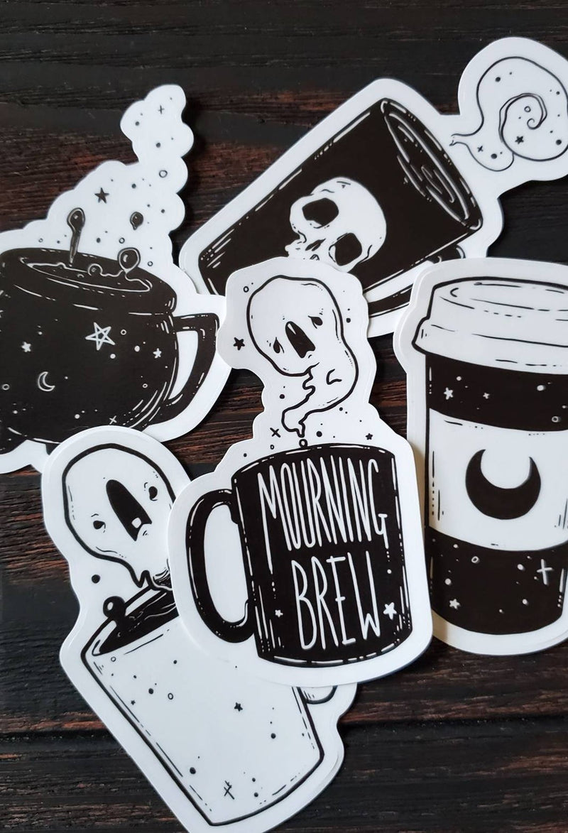 Spooky Brew Coffee STICKER pack