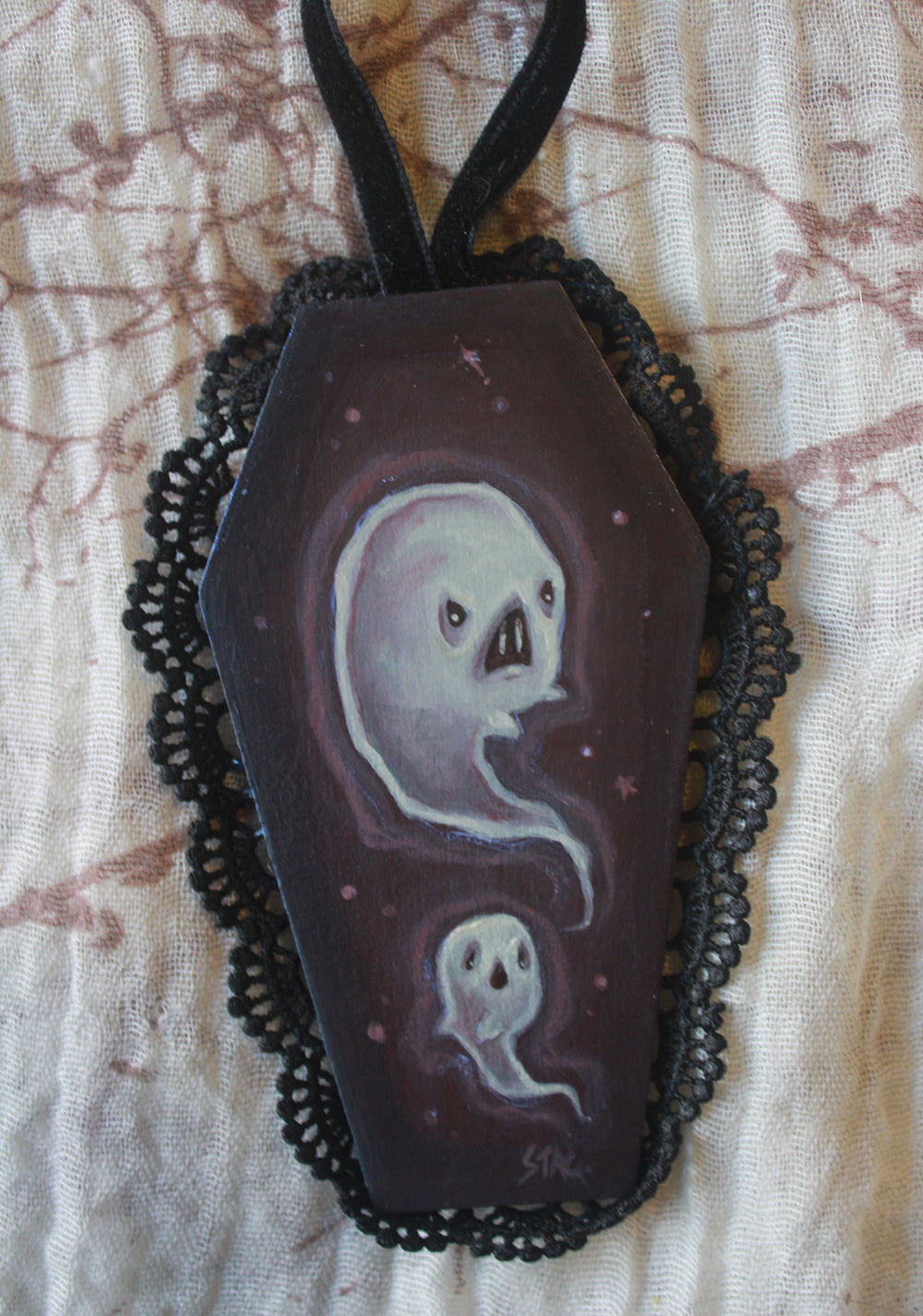 Mini Coffin Ghost -Lowbrow misfits White Stag Art