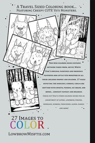 Buy Yeti A Travel Sized Coloring Book At Lowbrow Misfits White