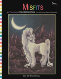 Misfits UNICORN coloring book No. 7 -Lowbrow misfits White Stag Art