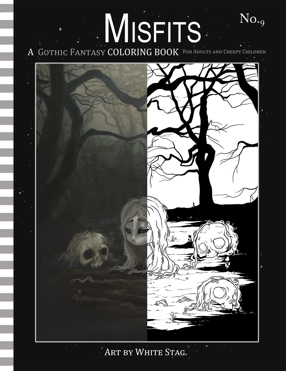 Misfits GOTHIC FANTASY coloring book No. 9 -Lowbrow misfits White Stag Art