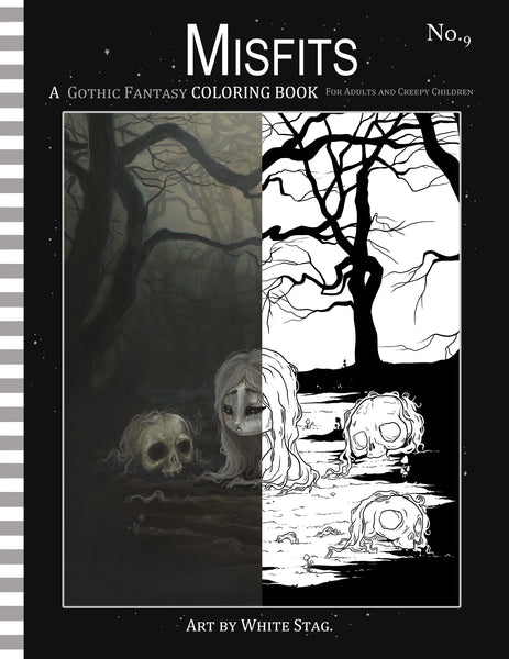 Buy Misfits GOTHIC FANTASY coloring book No. 9 at Lowbrow Misfits ...