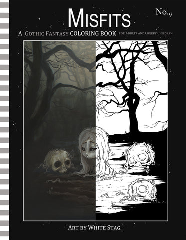 Buy Misfits Gothic Fantasy Coloring Book No 9 At Lowbrow Misfits