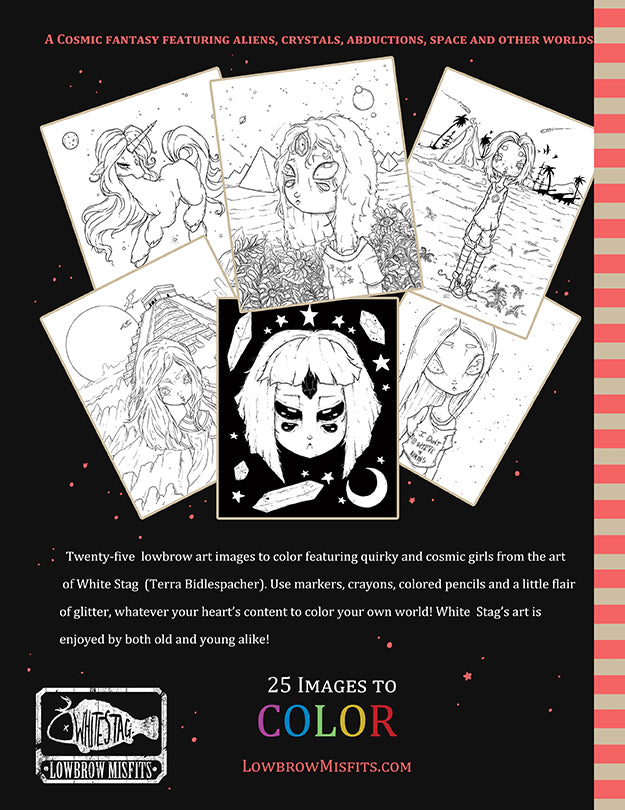 Misfits ALIEN coloring book No. 8 -Lowbrow misfits White Stag Art