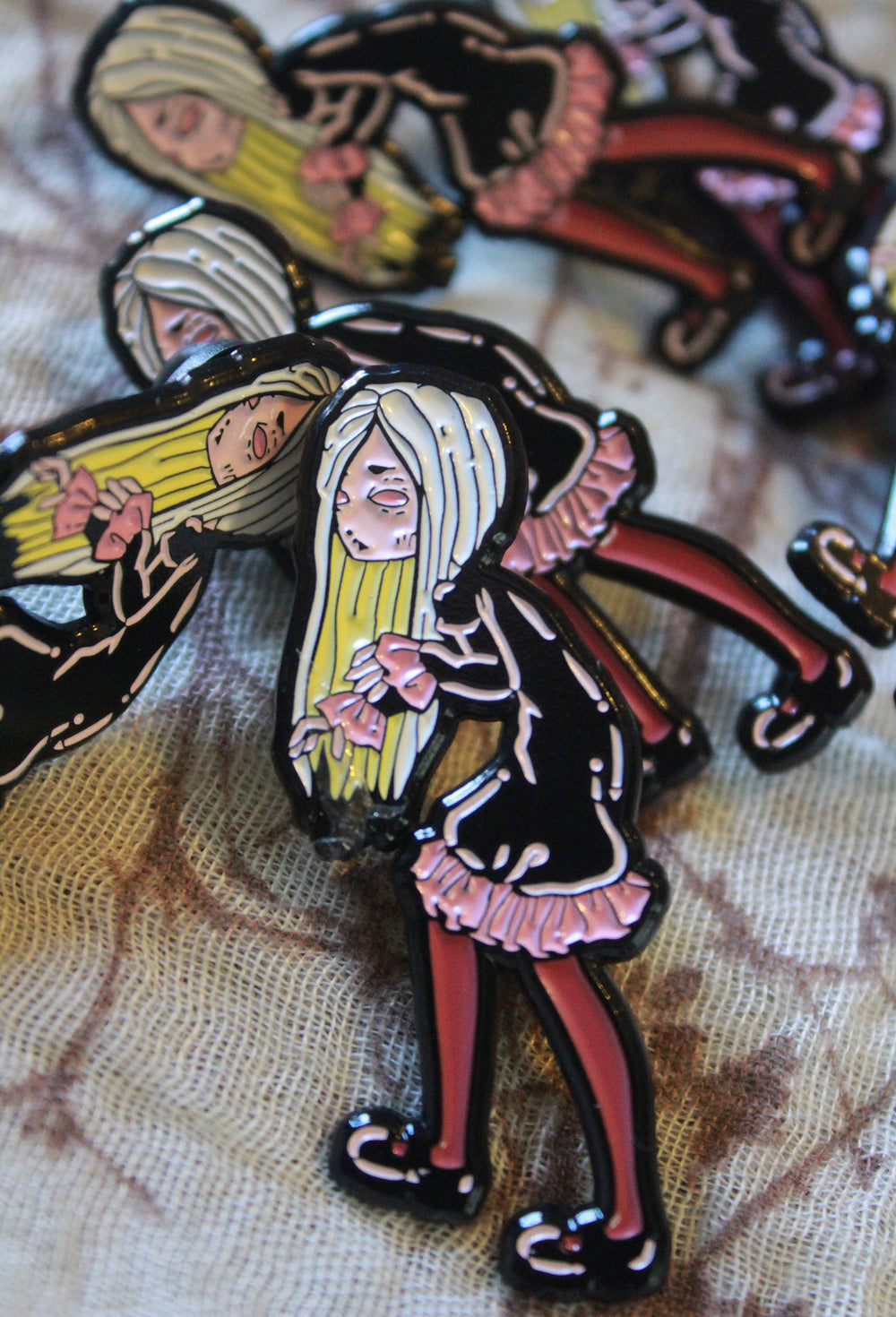 The Creeper vampire Enamel pin -Lowbrow misfits White Stag Art