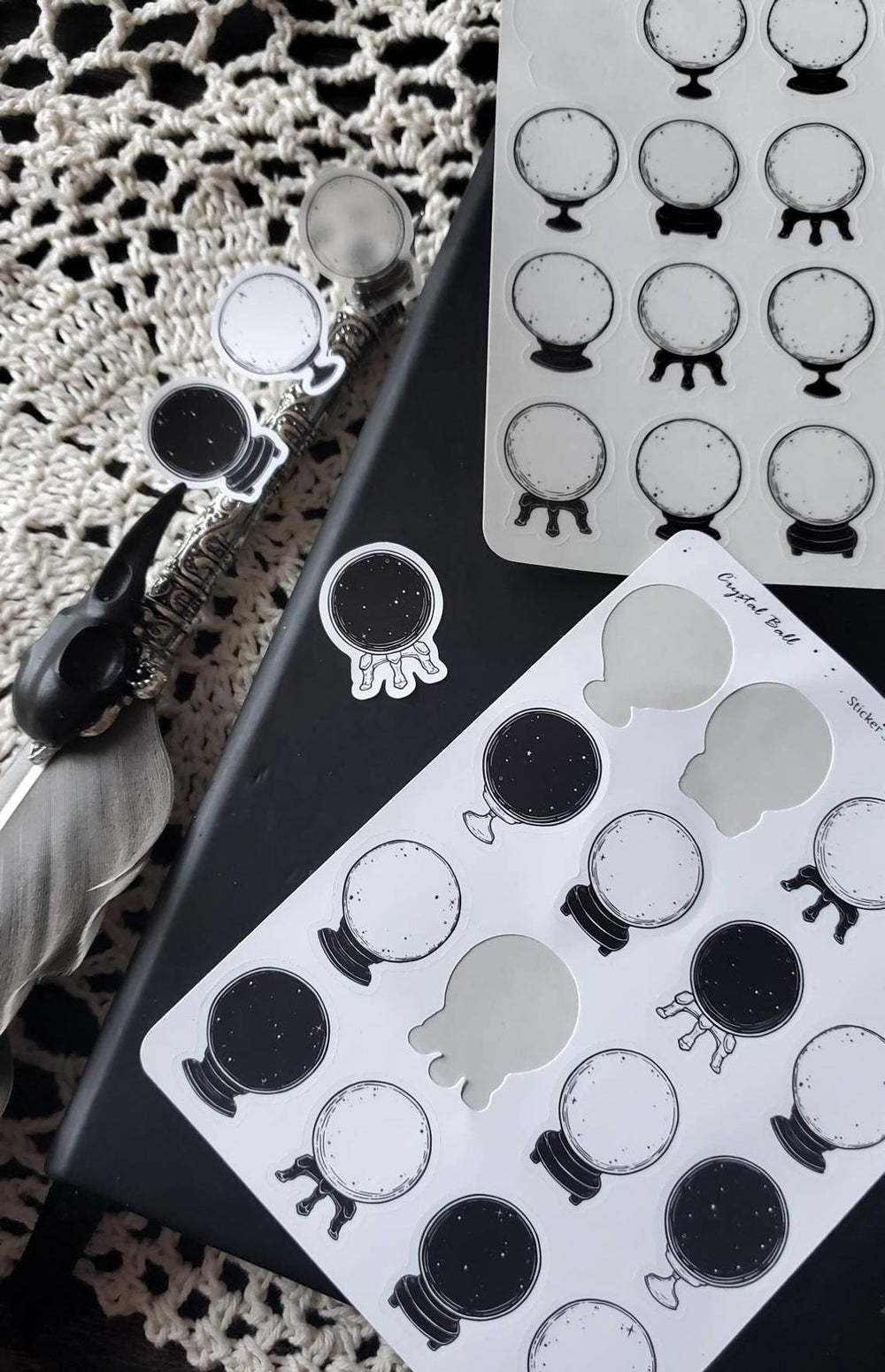 Crystal ball STICKER sheet set