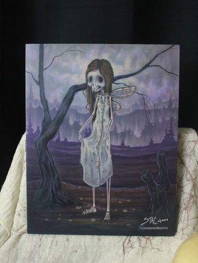 Daisy Bones- Original lowbrow skeleton painting -Lowbrow misfits White Stag Art