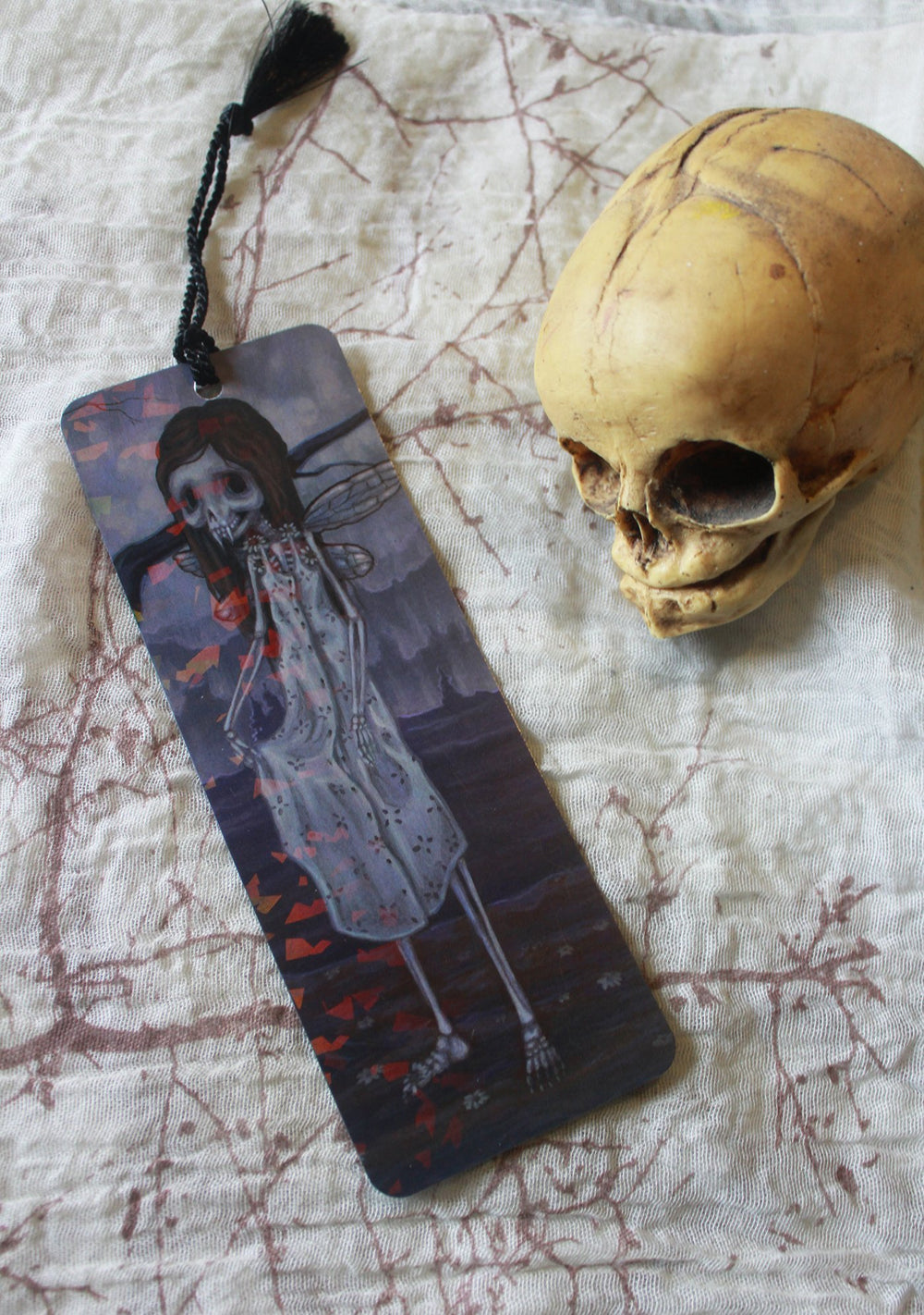 Daisy Bones Holographic Bookmark -Lowbrow misfits White Stag Art