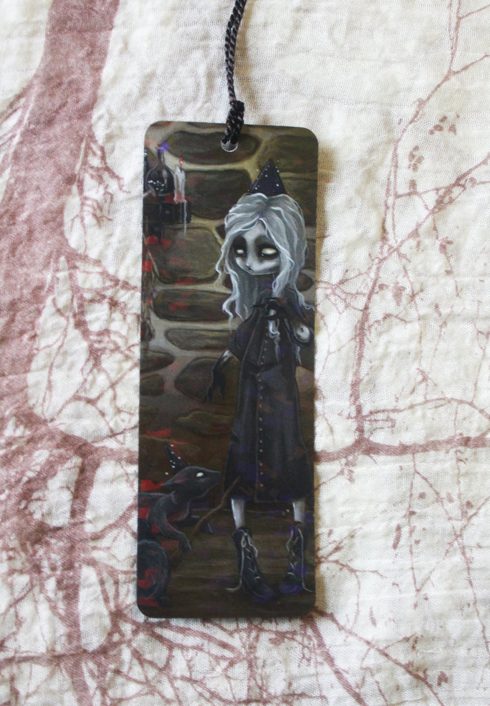 The Dark Conjurer Holographic Bookmark -Lowbrow misfits White Stag Art