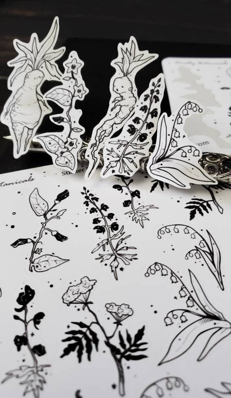 Deadly Botanicals STICKER sheet