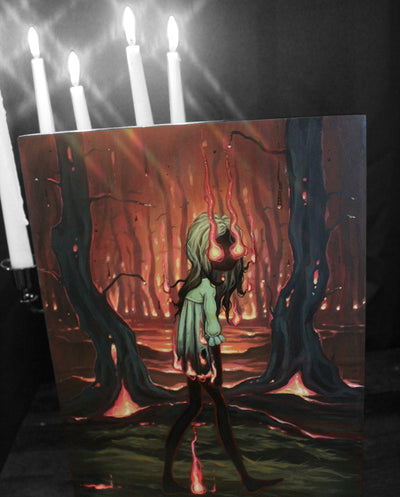 The Ember Witch- Original lowbrow gothic painting -Lowbrow misfits White Stag Art
