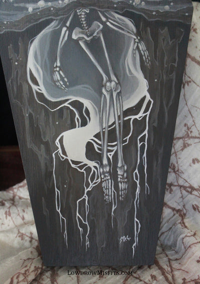 Fertile Soils Blight original painting -Lowbrow misfits White Stag Art