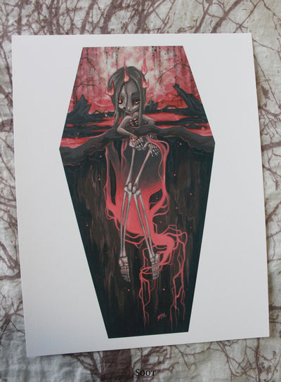 Fertile Soils coffin art prints- 2nd series -Lowbrow misfits White Stag Art