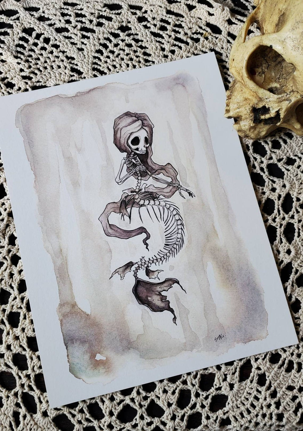 Fishbones Mermaid skeleton- Print set