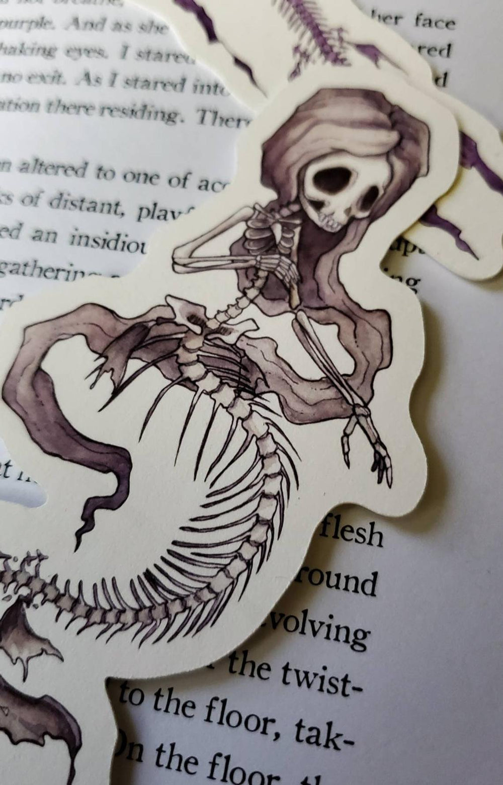 Fishbones Paper Bookmark SET