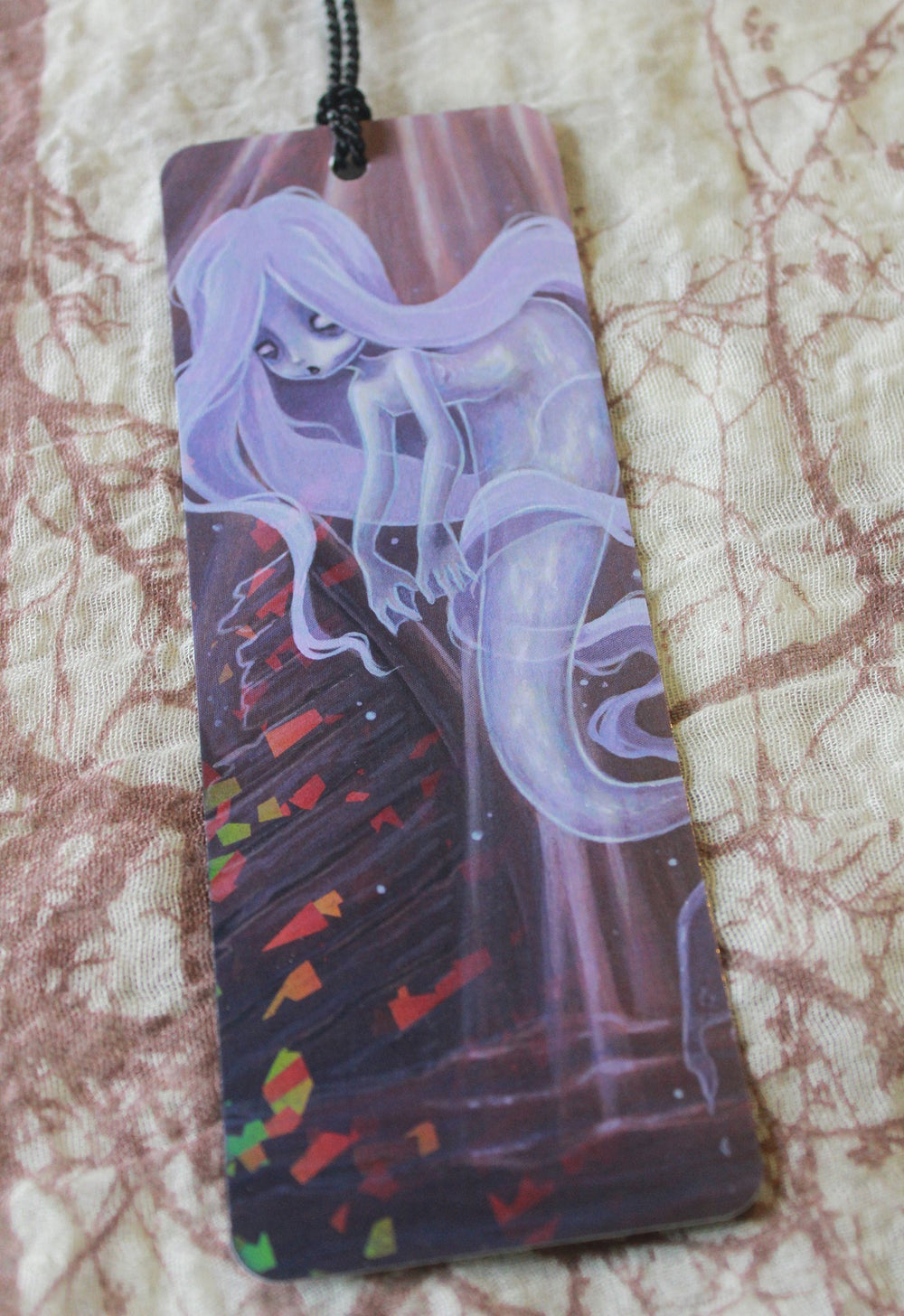 Ghost Ship Holographic Bookmark -Lowbrow misfits White Stag Art