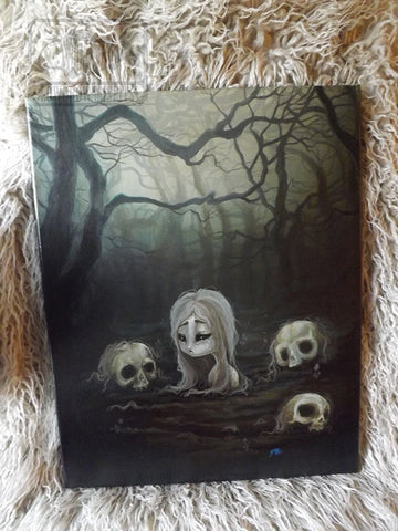 The Human Garden- Original Painting -Lowbrow misfits White Stag Art