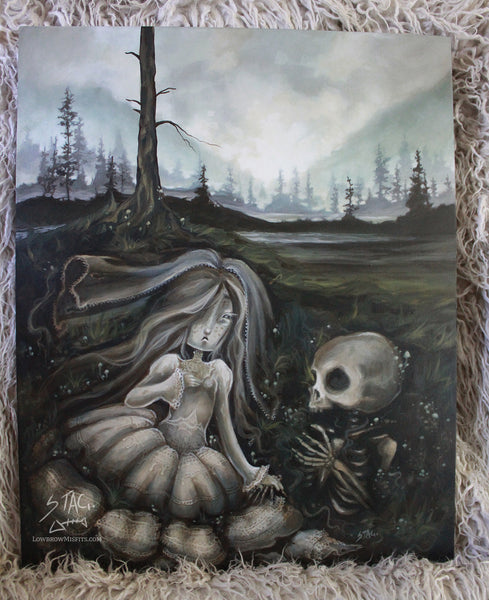 I'm Happy Now - Original painting -Lowbrow misfits White Stag Art