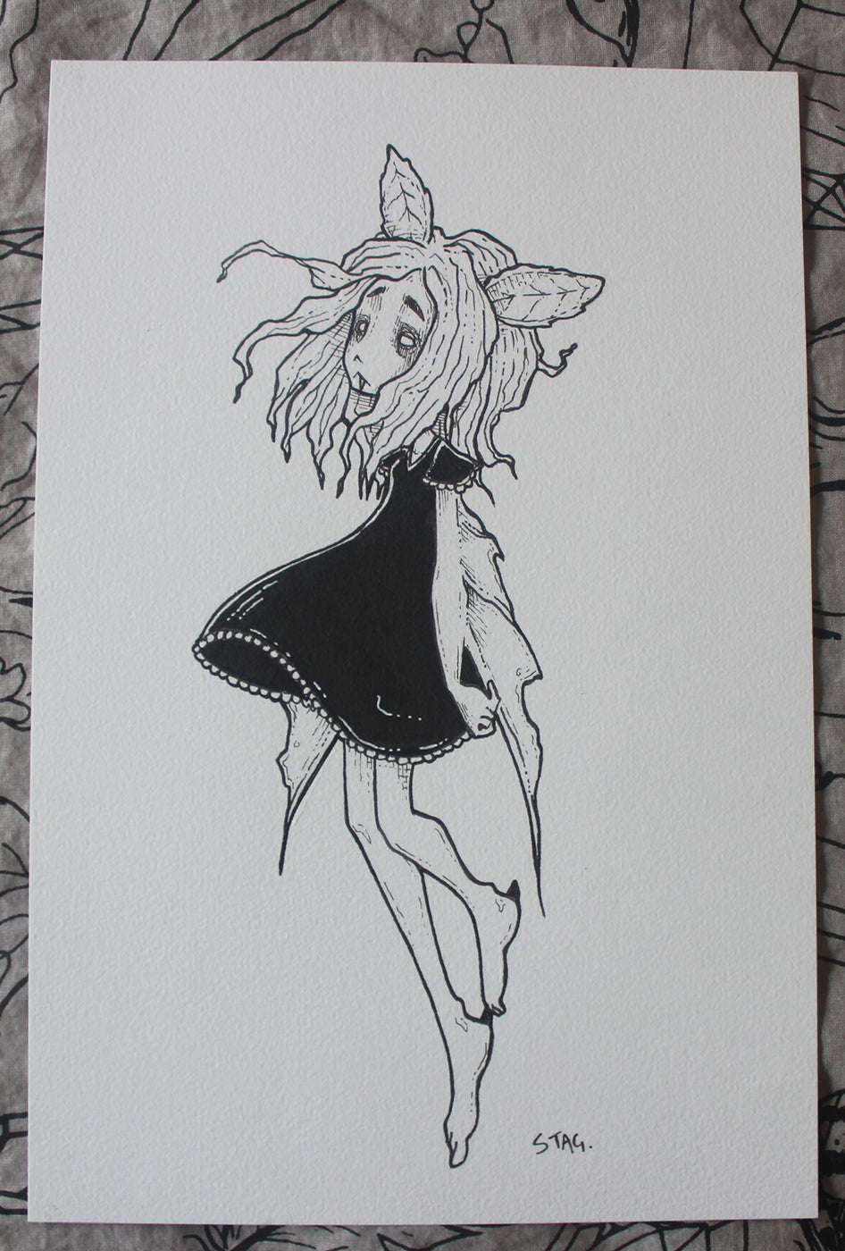 Inktober No. 4 -Lowbrow misfits White Stag Art
