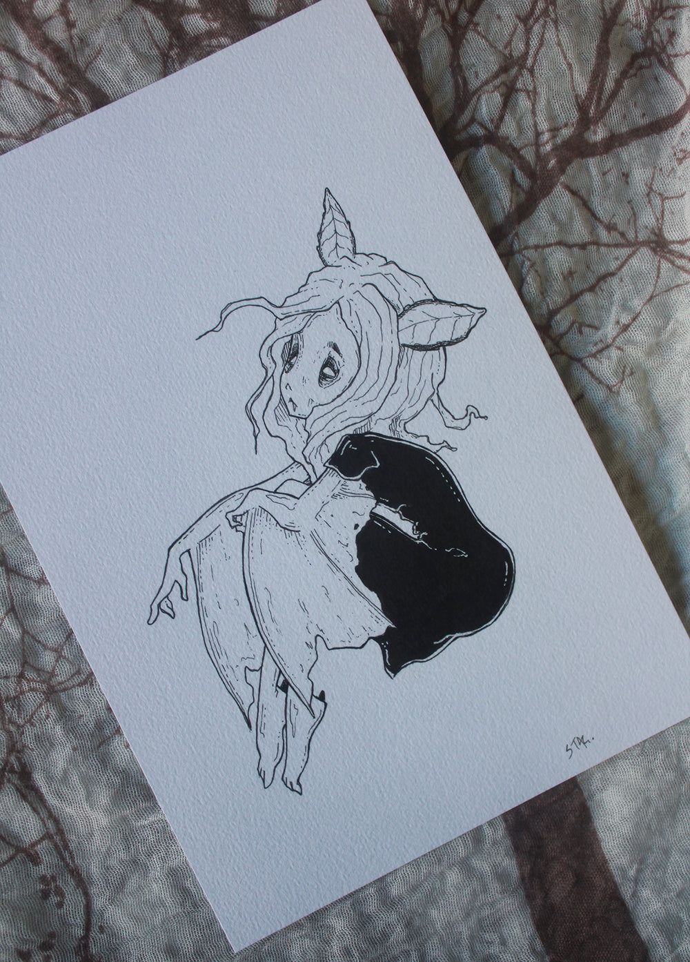 Inktober No. 8 -Lowbrow misfits White Stag Art
