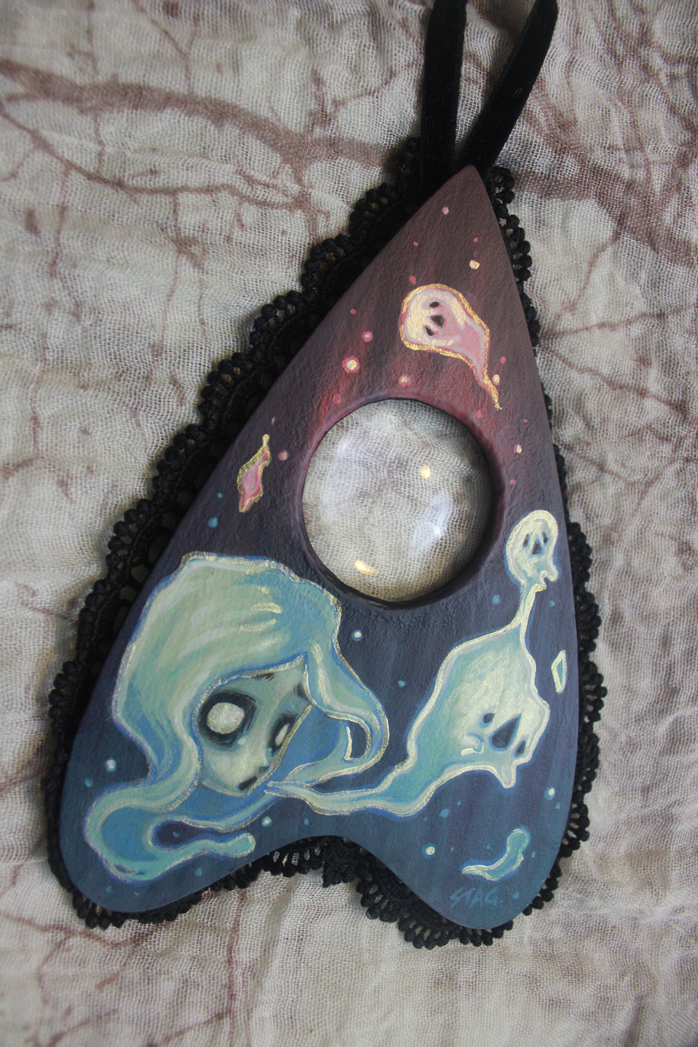 Planchette ghost painting -Lowbrow misfits White Stag Art