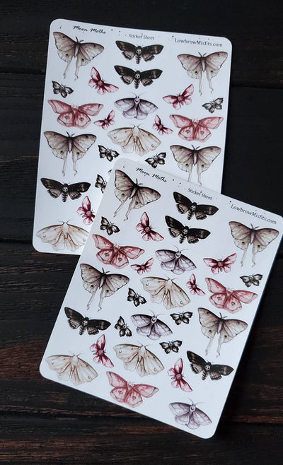Moon moth STICKER sheet