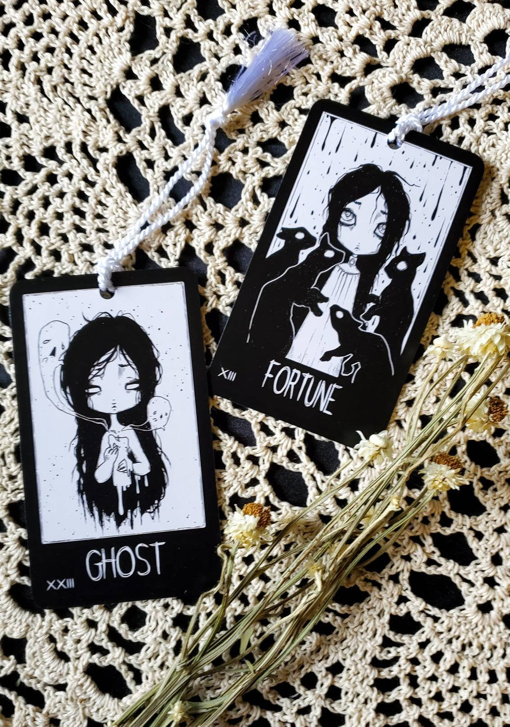 Mystic Misfits oracle card bookmark SET -Lowbrow misfits White Stag Art