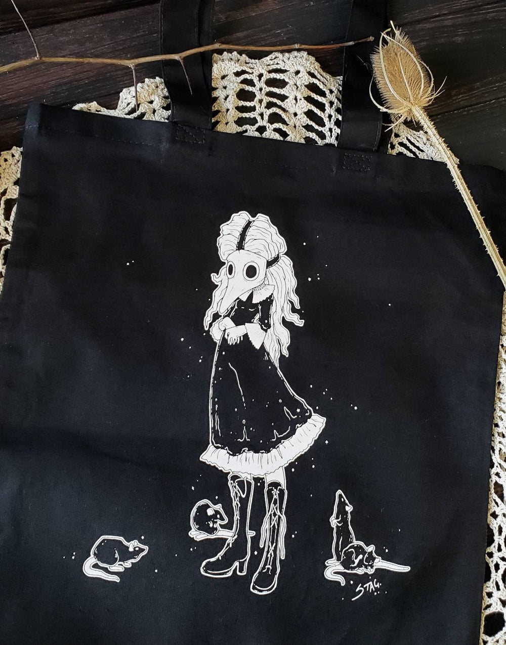 The Piper plague doctor Tote Bag