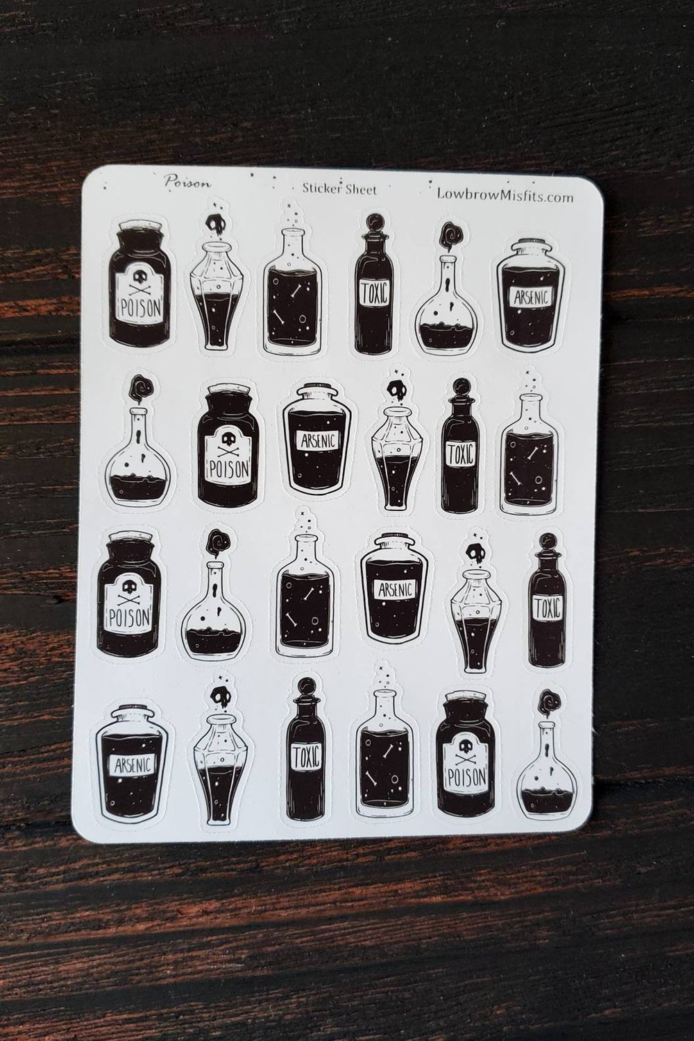 Poison bottle STICKER sheet