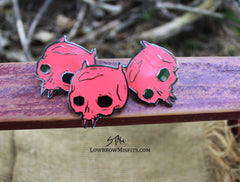 Red devil enamel pin