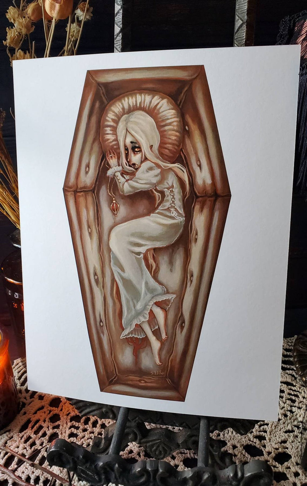 Sanguine- Vampire Coffin art print