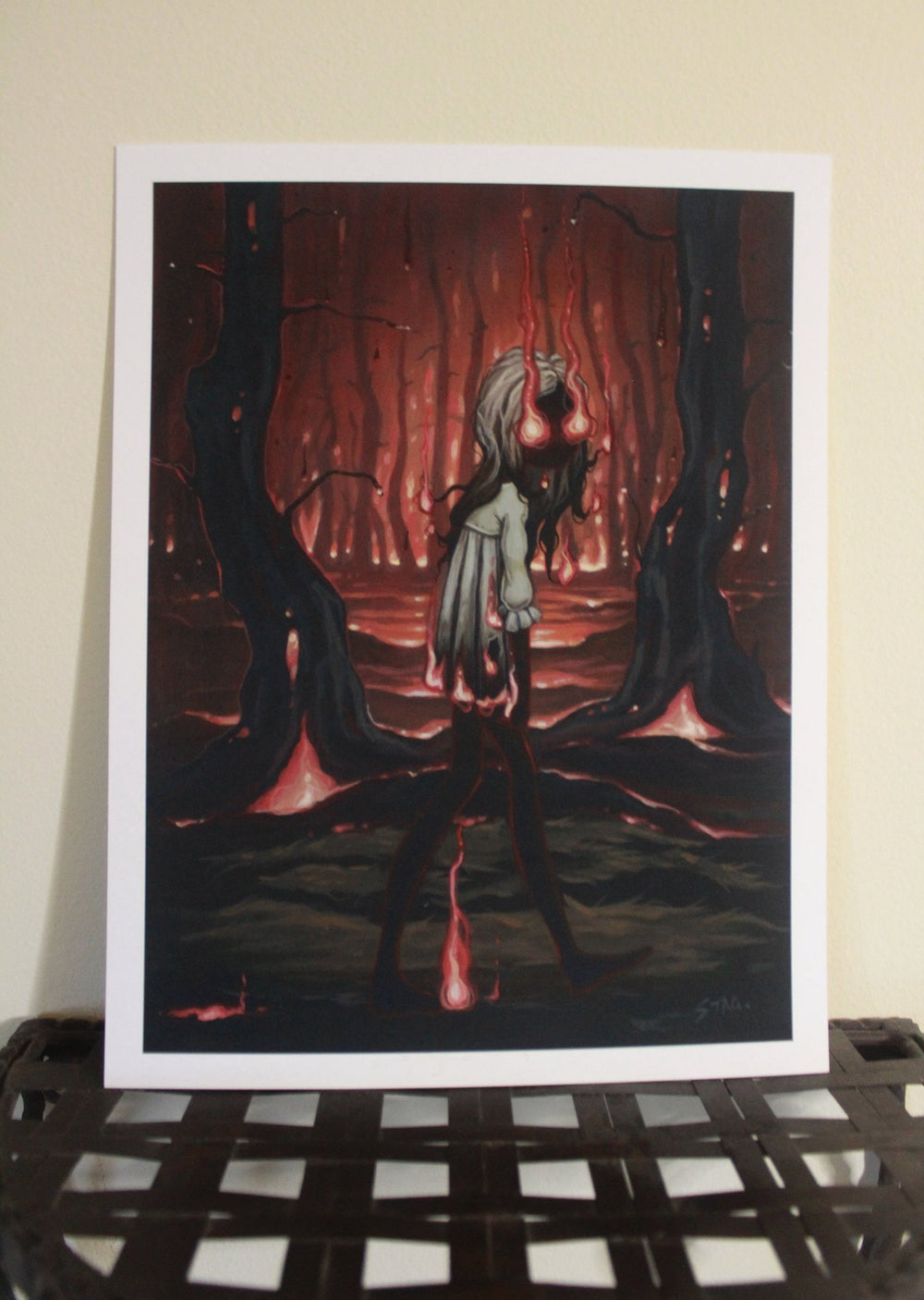 The Ember Witch lowbrow gothic print -Lowbrow misfits White Stag Art