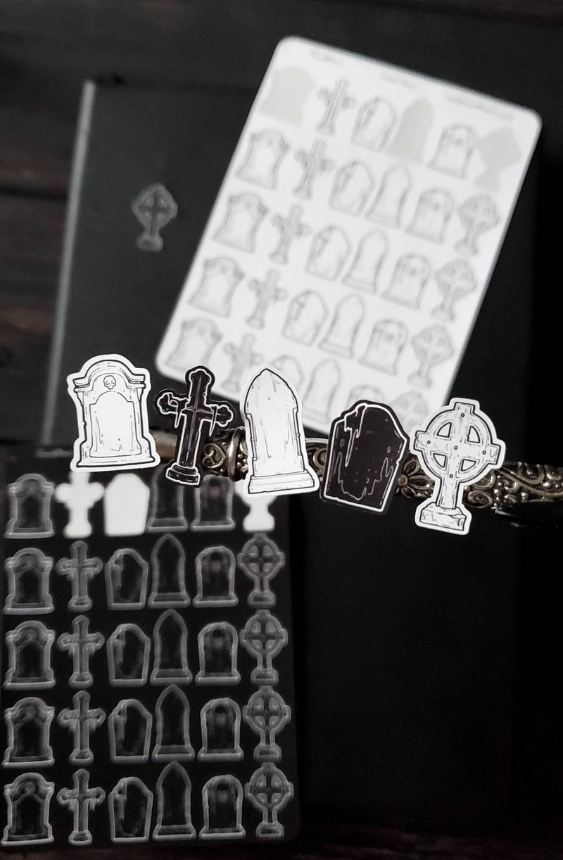 Tombstone STICKER sheet set