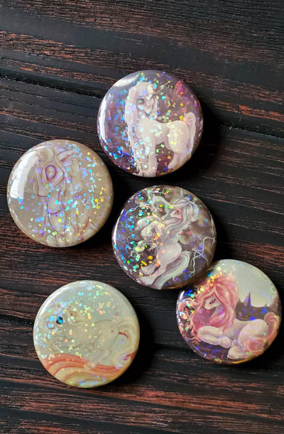 Unicorn HOLO Pin Button set