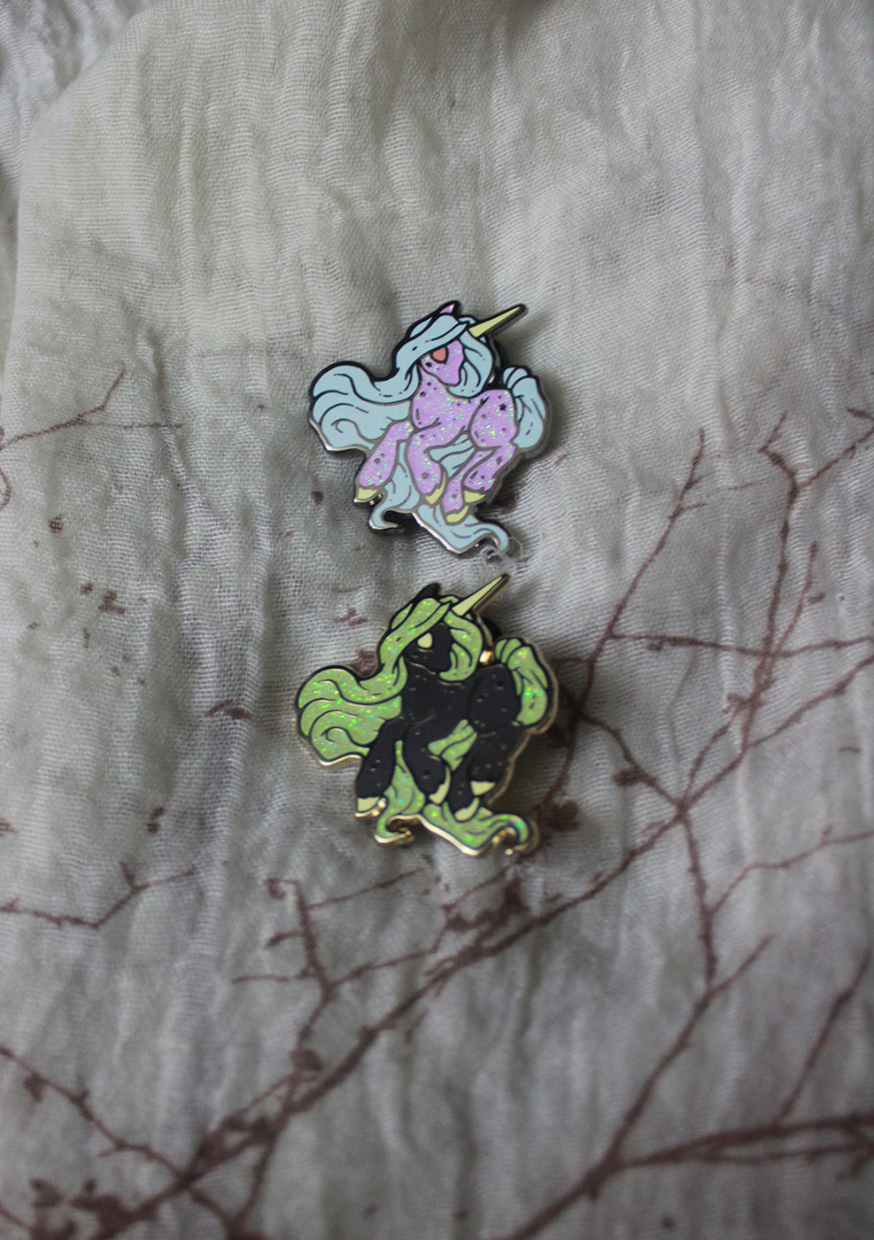 Cosmic Unicorn Enamel pin -Lowbrow misfits White Stag Art
